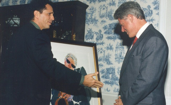 1995 Presentation by Jay to President Clinton