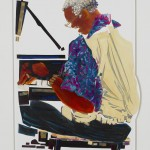 "Ellis Marsalis by Schlossberg-Cohen measures 39 1/2"" x 31 1/2"""